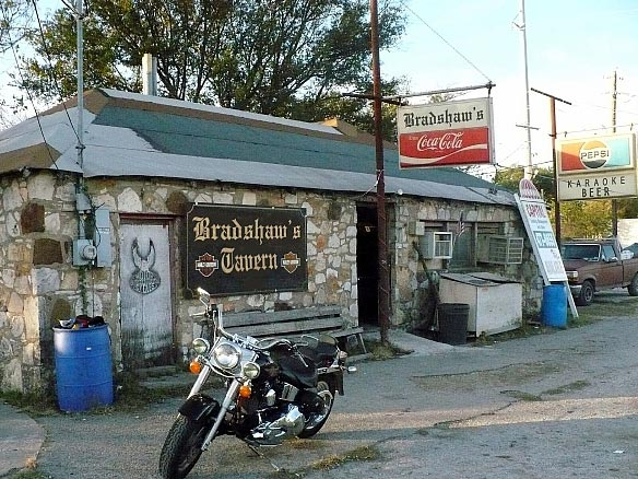 Bradshaw's Tavern in Bradshaw's Pike. Bikers, karaoke.