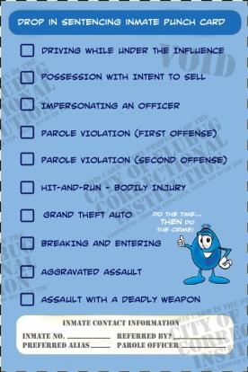 drop in sentencing punch card