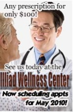 Illiad Wellness Center ad