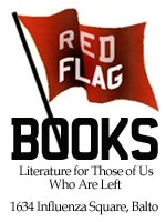 red flag bookstore ad