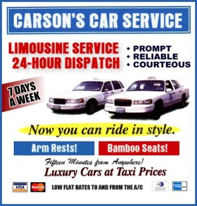 """Carson's Car Service is In the Flubug """"Fishtail."""" Where Carson is, is anyone's guess. Carson"""