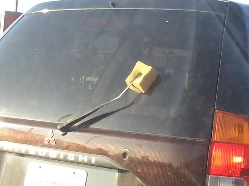 Image result for sponge as a car wiper